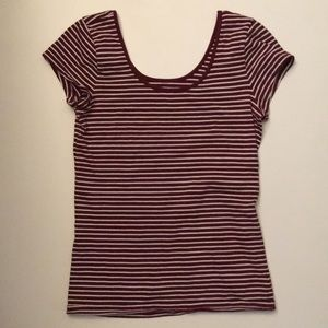 Gap red and white striped shirt